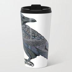 Celtic Raven Metal Travel Mug