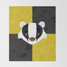 The Badger of Loyalty Throw Blanket