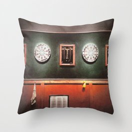 Dart Boards Throw Pillow