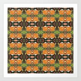 Royal Poinciana Orange Petals OP Pattern Art Print