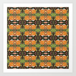 Royal Poinciana Orange Petals OP Pattern Art Print