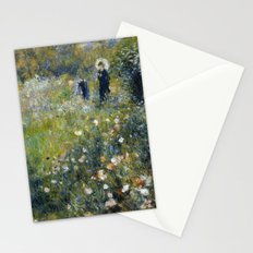 Woman with a Parasol in a Garden -Renoir Stationery Cards