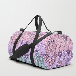 Mermaid Scales with Unicorn Girls Glitter #1 #shiny #pastel #decor #art #society6 Duffle Bag