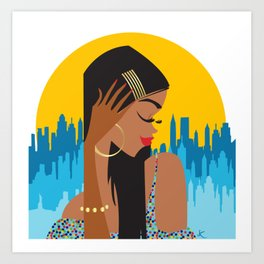 Gold Pins Art Print