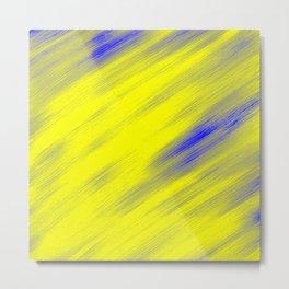 Yellow Blue Diagonal Metal Print