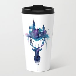 Always - Magical Deer in a Wizard World in watercolor Travel Mug