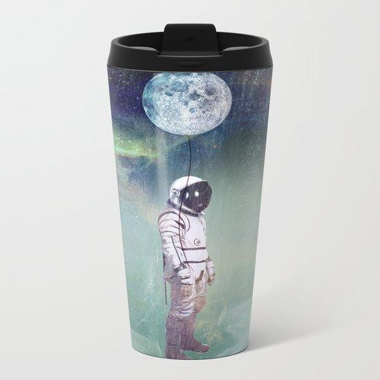 Moon Balloon Metal Travel Mug