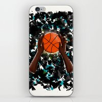 basketball iPhone & iPod Skins featuring  BasketBall  by Marven RELOADED