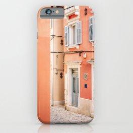 Colors of Rovinj II | Croatia travel photography | Pastel tones wall art iPhone Case