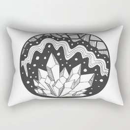 Crystal Cluster in Black and White Rectangular Pillow