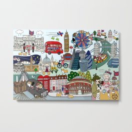 The Queen's London Day Out Metal Print