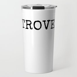 INTROVERT - Uppercase - Black Travel Mug