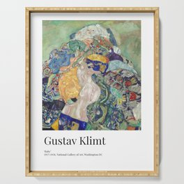 Gustav Klimt - Exhibition Art Poster - Baby (Cradle) - National Gallery of Art, Washington DC Serving Tray