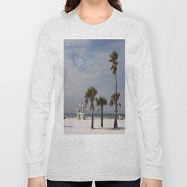 Clearwater Beach In Wintertime Long Sleeve T-shirt