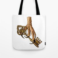 ravenclaw Tote Bags featuring Ravenclaw by SDKCreative