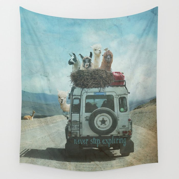 NEVER STOP EXPLORING II SUMMER EDITION Wall Tapestry