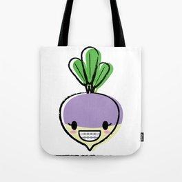 cute turnip with braces Tote Bag