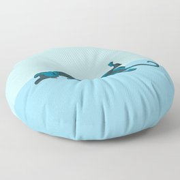 Roaching Greyhound Floor Pillow