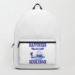 Happiness Is A Day Spent Hiking pb Backpack