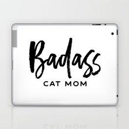 Badass cat mom Laptop & iPad Skin