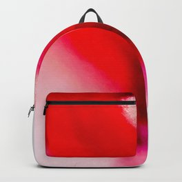 Slow Burn: simple abstract ink on paper in red, purple, and pink Backpack