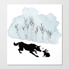 Wolfy Valentine Canvas Print