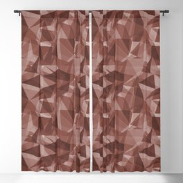 Abstract Geometrical Triangle Patterns 3 Dunn Edwards Spice of Life DET439 Blackout Curtain