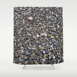 What Stories You Could Tell... Rocks of Jasper Beach Shower Curtain