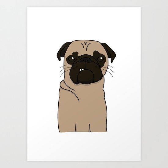 Mops Art Print