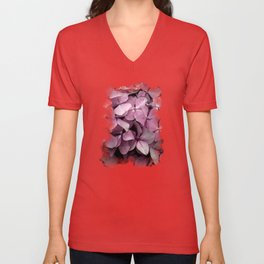Pink Hydrangeas Unisex V-Neck