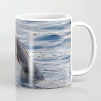 dolphin Mugs featuring dolphin by LaiaDivolsPhotography