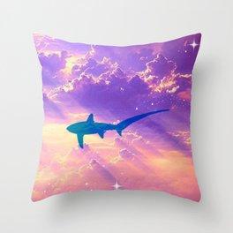 Air Shark Throw Pillow