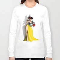 snow white Long Sleeve T-shirts featuring Snow White by Greg-guillemin