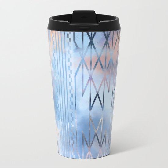 Blue Tribal No.1 Metal Travel Mug