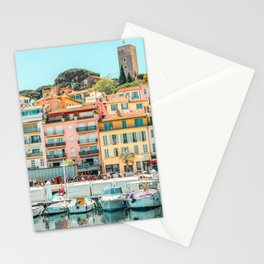 Cannes City Print, Luxurious Yachts And Boats, French Riviera, Travel Print, City Marina Port In France Poster, Colored Houses Photography, Colorful Home, Home Decor, Wall Art Print Stationery Cards