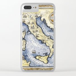 Vintage map of Italy Clear iPhone Case