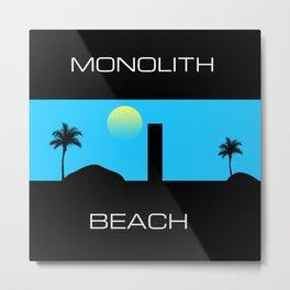 Monolith Beach Metal Print