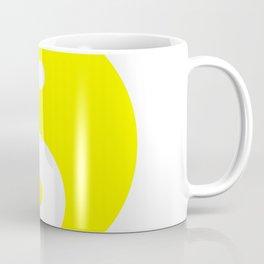 Yin & Yang (Yellow & White) Coffee Mug