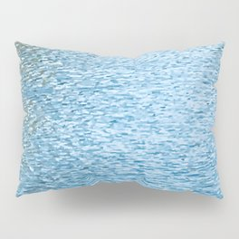 Lake Reflections With Splashes of Shaded Sunlight Abstract Pillow Sham