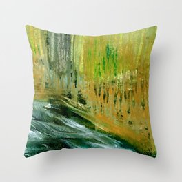 along the riverbanks Throw Pillow