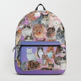 Cat Portrait Collage Backpack