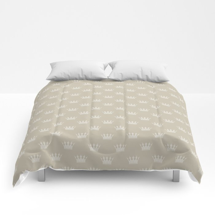 Mini George Grey with Pale Grey Crowns Comforters