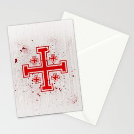 The Crusades Bloody Knight Templar Stationery Cards