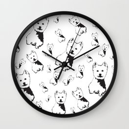 WEST HIGHLAND TERRIER GIFTS Wall Clock