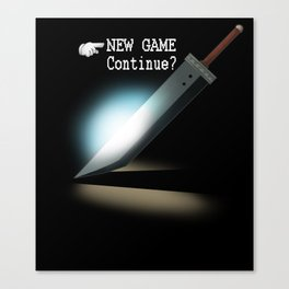 NEW GAME - Continue? Canvas Print