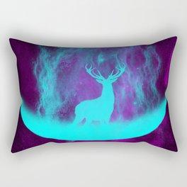Enlightened Forest | Spirit Deer | Moon and Antlers | Space Deer Rectangular Pillow