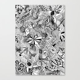 scribble me happy Canvas Print