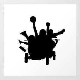 #thejumpmanseries, Sanka, you dead mon? Art Print