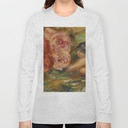"""Auguste Renoir """"Roses et Étude de Gabrielle"""" Long Sleeve T-shirt"""