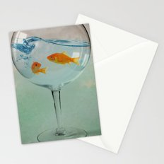 Goldfish glass Stationery Cards